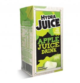 Hydra 75% Apple Juice Drink Cartons with Straw 200ml x24
