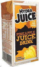 Hydra 75% Pineapple Juice Drink Cartons with Straw 200ml x24