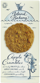 Island Bakery Organics Apple Crumble Biscuits 150g x12