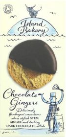 Island Bakery Organics Dark Chocolate Coated Ginger Biscuits 150g x12