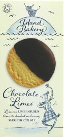 Island Bakery Organics Dark Chocolate Coated Lime Biscuits 150g x12