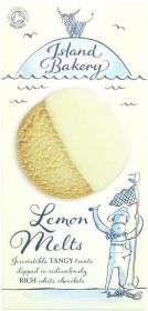 Island Bakery Organics White Chocolate Coated Lemon Melt Biscuits 150g x12