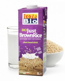 Isola Bio Organic Brown Rice Drink unsweetened 6x1ltr