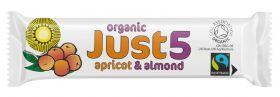Just5 Almond & Apricot Bars 40g x18