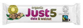 Just5 Date & Walnut Bars 40g x18