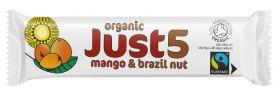 Just5 Mango & Brazil Nut Bars 40g x18