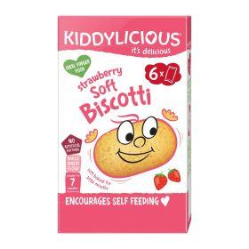 Kiddylicious Strawberry Soft Biscotti 20g (6's) x6