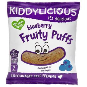 Kiddylicious Blueberry Chunky Fruity Puffs 12g x5