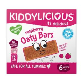 Kiddylicious Raspberry Oaty Bars 20g (6's) x6