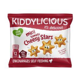 Kiddylicious Tomato and Cheesy Stars 12g x12