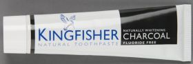 Kingfisher Toothpaste Charcoal Naturally Whitening Mint 12x100ml