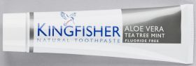 Kingfisher Toothpaste Aloe Vera/Tea Tree Mint 12x100ml