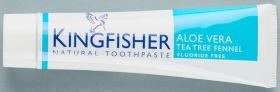 Kingfisher Toothpaste Aloe Vera/Tea Tree Fennel 12x100ml