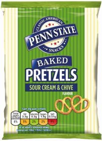 Penn State Sour Cream & Chive Pretzels 30g x33