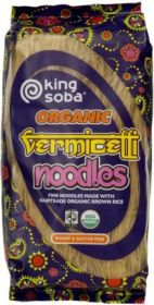King Soba Fair Trade & Organic Vermicelli Noodles 250g x12