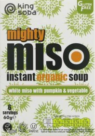 King Soba Organic White Miso with Pumpkin and Vegetable Instant Soup 60g x10