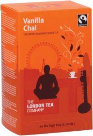 London Tea Company Fair Trade Vanilla Chai Teabags 60g (20s) x6