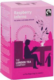 London Tea Company Fair Trade Raspberry Inferno Teabags 44g (20s) x6