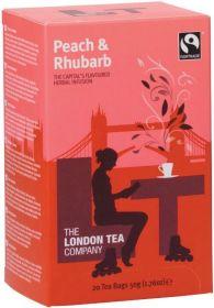 London Tea Company Fair Trade Peach and Rhubarb Teabags 44g (20s) x6