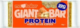 PROMO Ma Baker Giant Protein PEANUT BUTTER Flapjack 90gx20