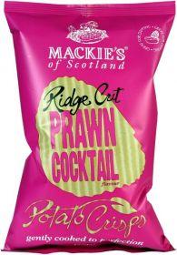 Mackie's of Scotland Prawn Cocktail Ridge Cut Potato Crisps (Sharing Bag) 150g x12