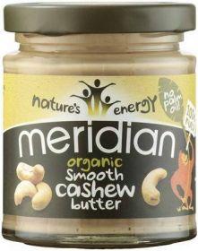 Meridian Organic Smooth Cashew Butter 6 x 470g