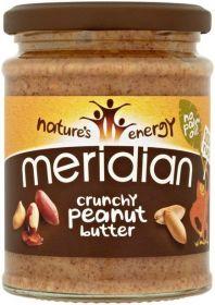 Meridian Crunchy Peanut Butter 100% 6 x 470g