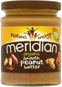 Meridian Organic Smooth Peanut Butter 100% 6 x 470g