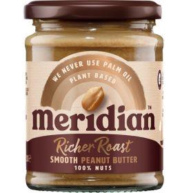 Meridian Rich Roast Smooth Peanut Butter 100% 6 x 280 g