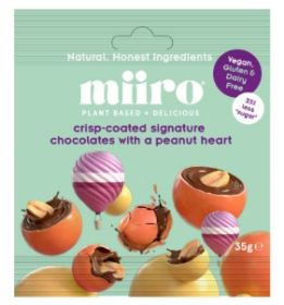 MiiRO Crunchy Spheres Dipped in signature Chocolate 35g x12