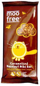 PROMO Moo Free Organic Caramelised Hazelnut Nibs Chocolate 100g x12