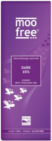 PROMO Moo Free Organic Moreish 65% Dark Chocolate Bar 80g x12