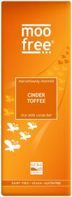 PROMO Moo Free Organic Marvellously Moreish Cinder Toffee Rice Milk Cocoa Chocolate Bar 80g x12