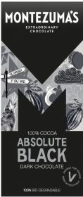 Montezuma Absolute  Black 100% Cocoa 90g x12