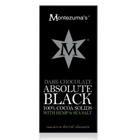 Montezuma Absolute Black with Hemp & Sea Salt 90g x12