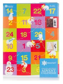 Montezuma Milk and White Advent Calendar 144g x5