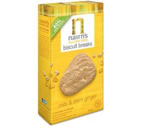 Nairn's Oats & Stem Ginger Biscuit breaks 7 x 160g