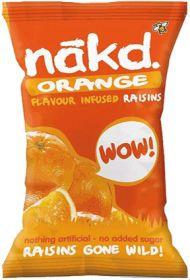 Promo Nakd Orange Infused Raisins 25g x18
