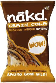 Promo Nakd Cola Infused Raisins 25g x18