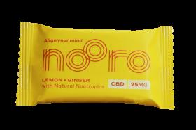 Nooro Lemon & Ginger Vegan Oat bar CBD 25g x10