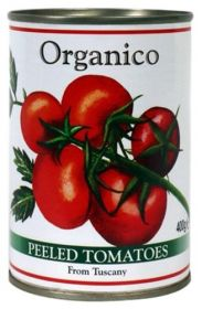 Organico Organic Peeled Tomatoes From Tuscany 400g x12