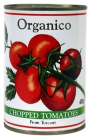 Organico Organic Chopped Tomatoes From Tuscany 400g x12