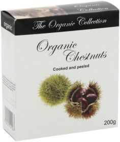 Organico Organic French Chestnuts in a Box 200g x12