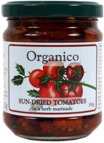 Organico Organic Sundried Tomatoes in Herb Marinade 190g x6