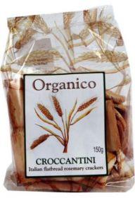 Organico Organic Croccantini Rosemary Crackers 150g x10
