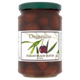 Organico Organic Italian Black Olives in Brine & Herbs 280g x6