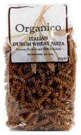Organico Organic Brown Fusilli 500g x12
