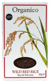 Organico Organic Wild Red Rice - Wholegrain 500g x12