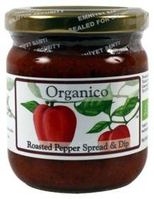 Organico Organic Roasted Pepper Spread & Dip 140g x6