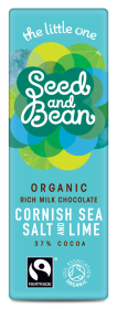 Organic Seed & Bean Milk Fairtrade & Organic Cornish Sea Salt & Tropical Lime 25g x30